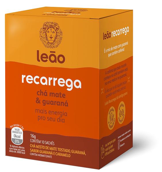 CHÁ FUNCIONAL LEÃO RECARREGA COM 10 SACHES