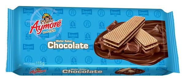 BISCOITO WAFFER AYMORÉ CHOCOLATE  115G