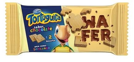 BISCOITO WAFFER TORTUGUITA CHOCOLATE  85G