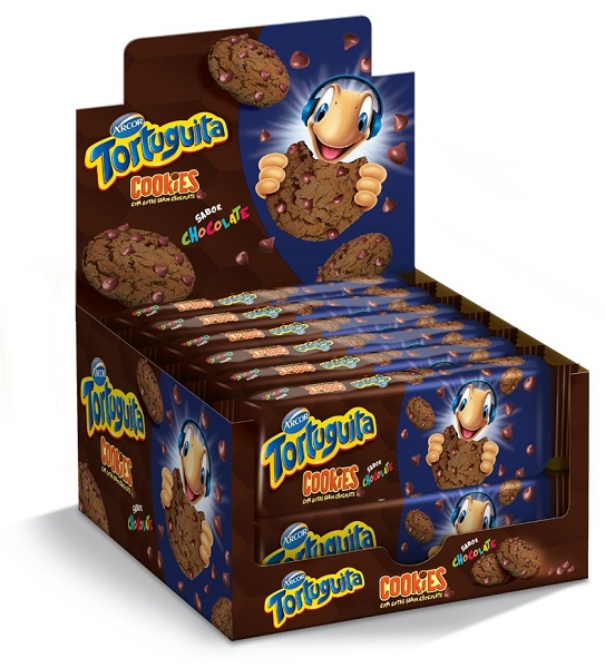 Biscoito Cookies  Tortuguita Chocolate Display 16x60g