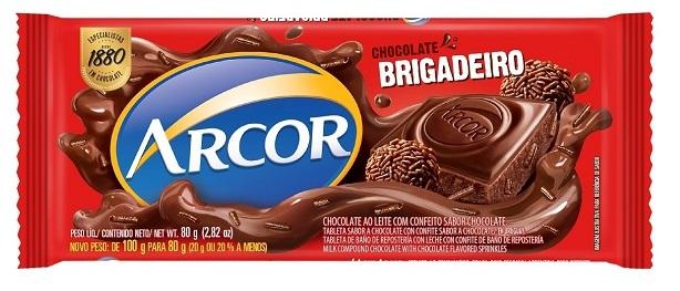 CHOCOLATE BARRA ARCOR BRIGADEIRO DISPLAY 12X80G