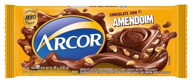 CHOCOLATE BARRA ARCOR AMENDOIM DISPLAY 12X80G