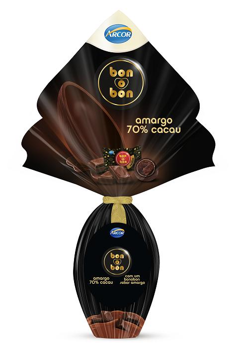 OVO DE PASCOA  BON O BON AMARGO70% 150G