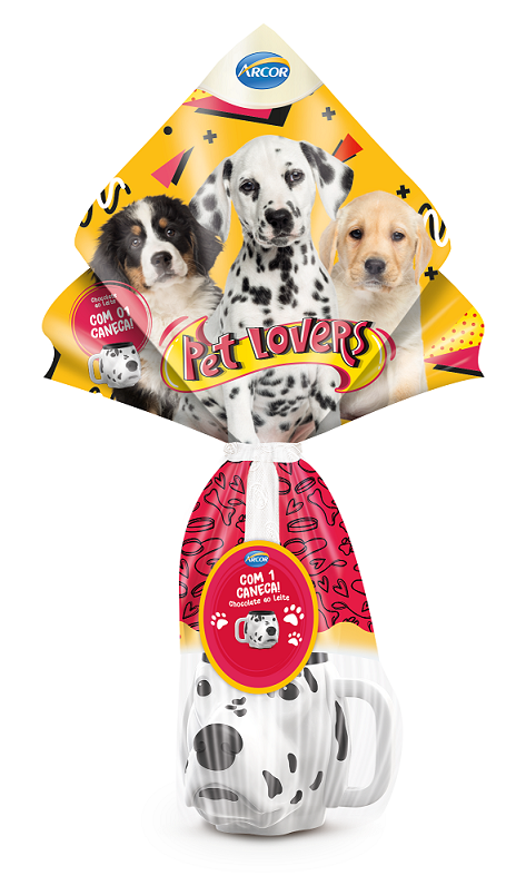 OVO DE PASCOA ARCOR PET LOVERS CHOCOLATE AO LEITE 100G
