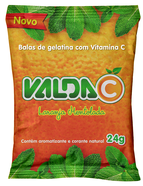 Pastilha Suplemento Valda-C Laranja Mentolada Sache 24g