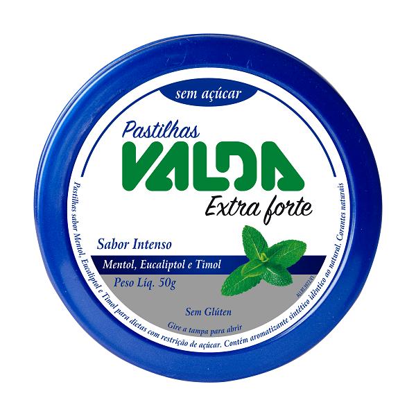 Pastilha Diet Valda Extra Forte Lata 50g