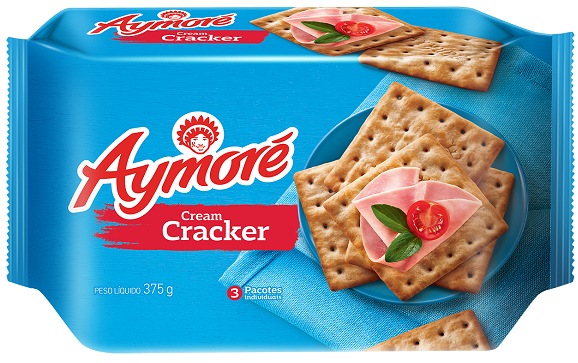 Biscoito Multipack Aymoré Cream Cracker 375g