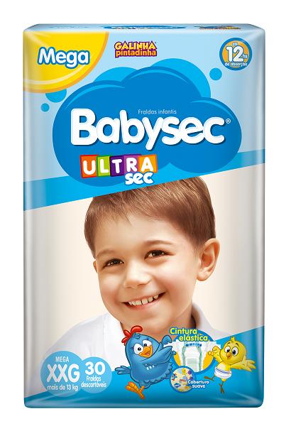 FRALDA INFANTIL BABYSEC ULTRA MEGA TAMANHO XXG -  PACOTE COM 30 UNIDADES