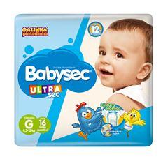 Fralda Infantil Babysec Ultra Jumbinho Tamanho G -  Pacote Com 16 Unidades