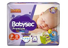 Fralda Infantil Babysec Premium Jumbinho Tamanho P -  Pacote Com 20 Unidades