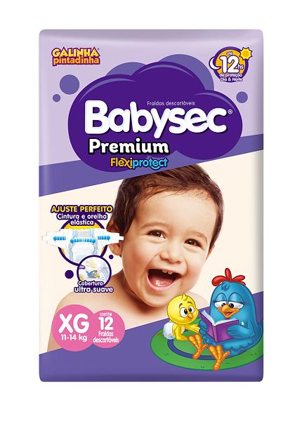 Fralda Infantil Babysec Premium Jumbinho Tamanho Xg -  Pacote Com 12 Unidades