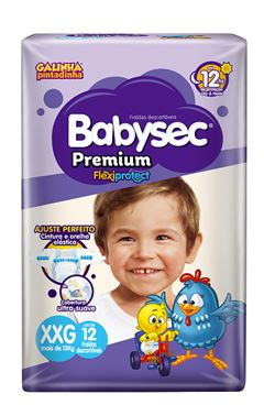 Fralda Infantil Babysec Premium Jumbinho Tamanho Xxg -  Pacote Com 12 Unidades