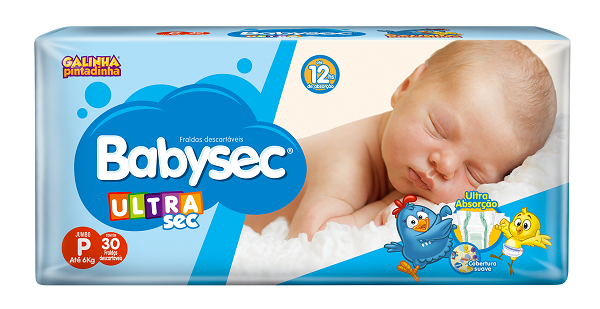 Fralda Infantil Babysec Ultra Jumbo Tamanho P -  Pacote Com 30 Unidades
