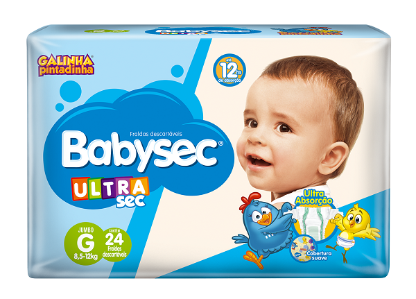 Fralda Infantil Babysec Ultra Jumbo Tamanho G -  Pacote Com 24 Unidades