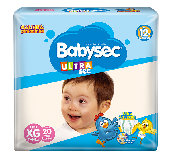 FRALDA INFANTIL BABYSEC ULTRA JUMBO TAMANHO XG -  PACOTE COM 20 UNIDADES