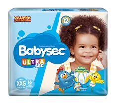 Fralda Infantil Babysec Ultra Jumbo Tamanho Xxg -  Pacote Com 16 Unidades