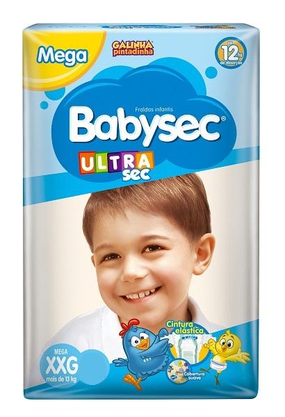 FRALDA INFANTIL BABYSEC ULTRA MEGA TAMANHO XXG -  PACOTE COM 28 UNIDADES