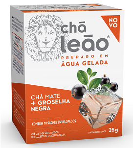 CHÁ GELADO LEÃO MATE / GRASELHA NEGRA COM 10 SACHES