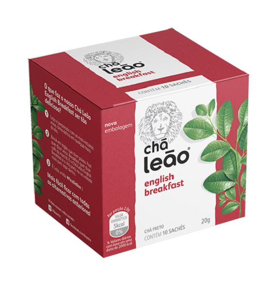 CHÁ  LEÃO ENGLISH BREAKFAST COM 10 SACHES