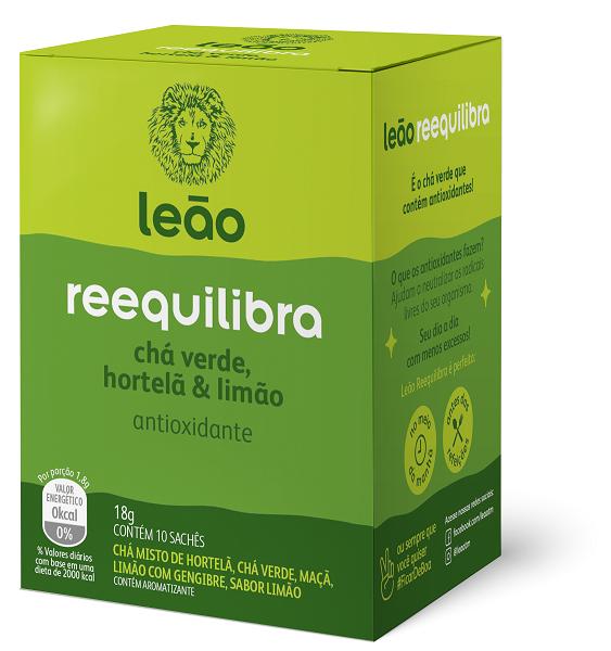 CHÁ FUNCIONAL LEÃO REEQUILIBRA COM 10 SACHES