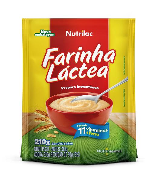 FARINHA LACTEA  NUTRILAC  UNIDADE 210G
