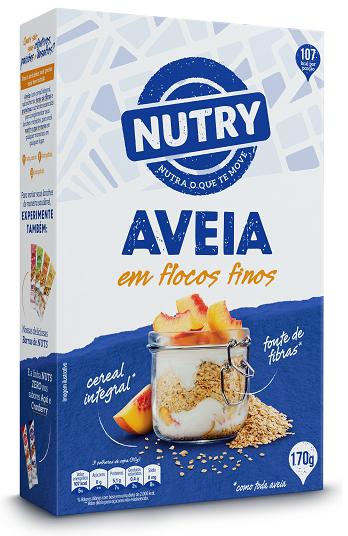 AVEIA FLOCOS FINOS NUTRY  CAIXETA 170G