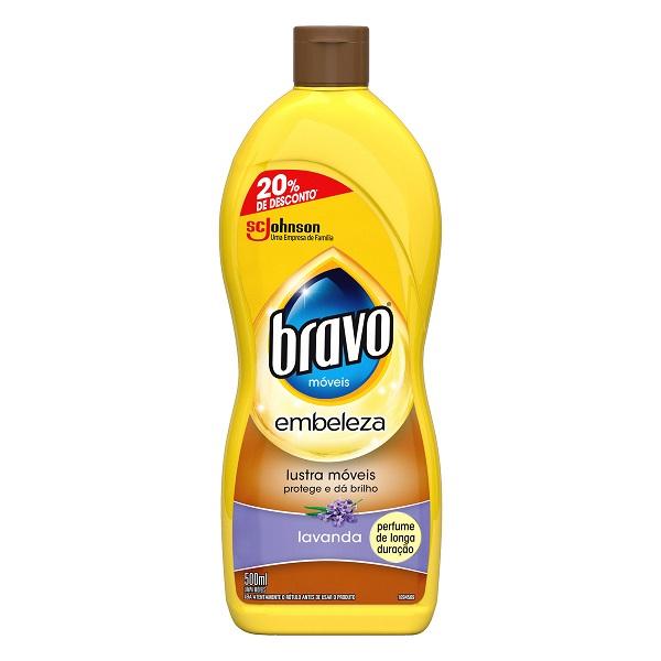 LUSTRA MOVEIS BRAVO LAVANDA PROMOCIONAL 500ML