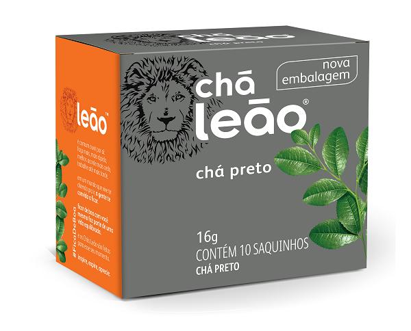 CHÁ  LEÃO PRETO COM 10 SACHES