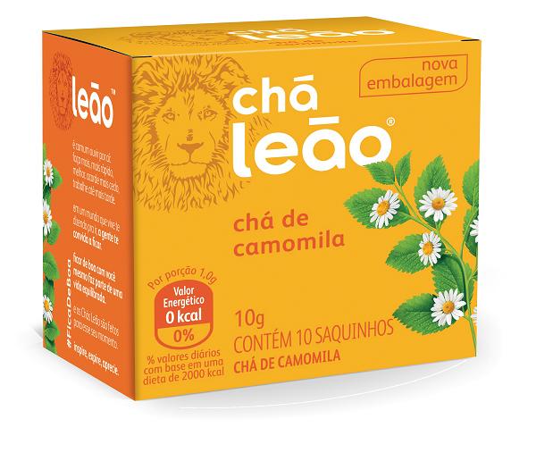 CHÁ  LEÃO CAMOMILA COM 10 SACHES