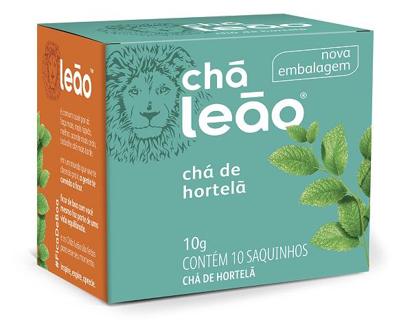 CHÁ  LEÃO HORTELÃ COM 10 SACHES