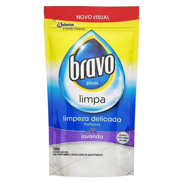 LIMPADOR (REFIL) BRAVO LAVANDA SACHE 500ML