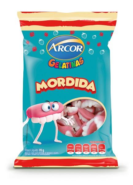 BALA GELATIN ARCOR MORDIDA PACOTE 70G