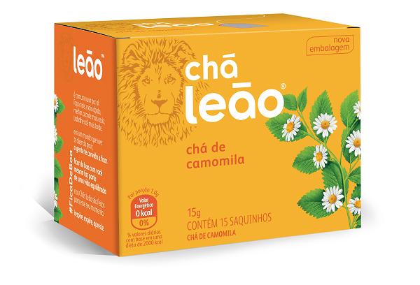 CHÁ PREMIUM LEÃO CAMOMILA COM 15 SACHES