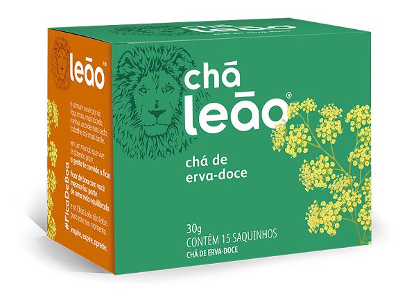 CHÁ PREMIUM LEÃO ERVA DOCE COM 15 SACHES