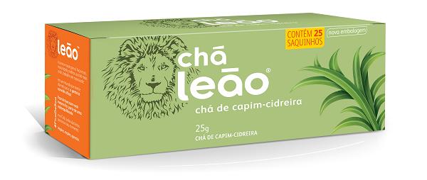 CHÁ  LEÃO CAPIM-CIDREIRA COM 25 SACHES