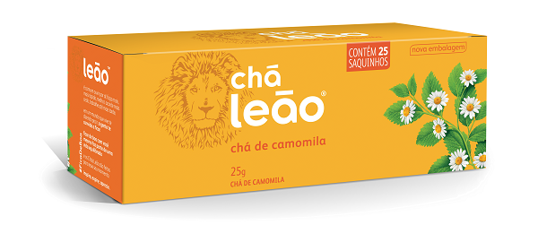 CHÁ  LEÃO CAMOMILA COM 25 SACHES