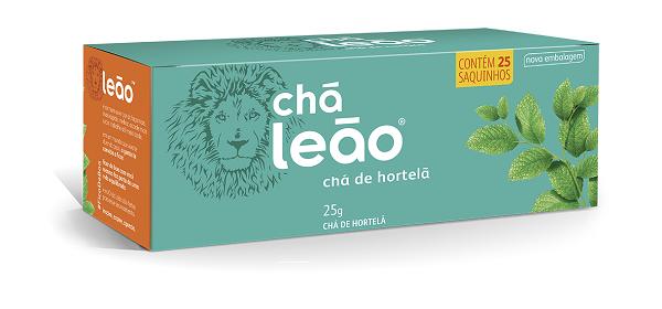 CHÁ  LEÃO HORTELÃ COM 25 SACHES