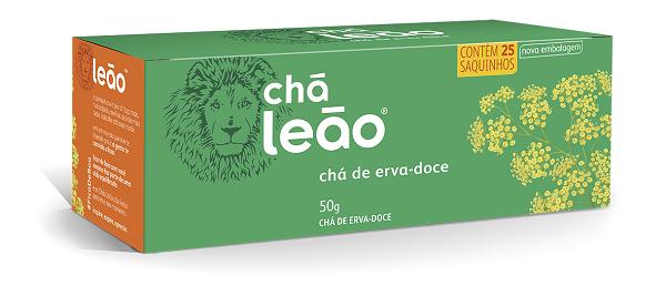CHÁ  LEÃO ERVA DOCE COM 25 SACHES