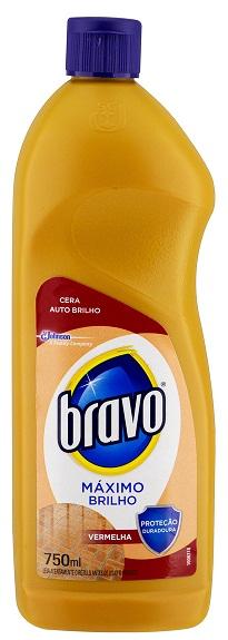CERA  BRAVO VERMELHO MAX BRILHO 200ML