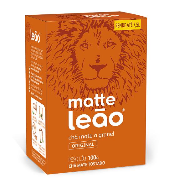 CHÁ CHÁ GRANEL LEÃO MATTE TRADICIONAL GRANEL 5X100G