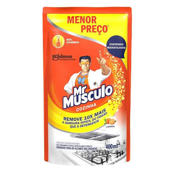 LIMPADOR COZINHA (REFIL) MR MÚSCULO LARANJA SACHE PROMOCIONAL 400ML