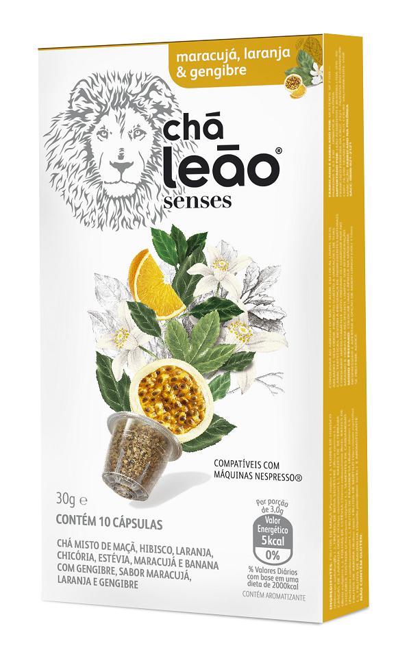 Chá Cápsula  Leão Maracujá / Laranja / Gengibre Com 10 Unidades (Compatível Nespresso)