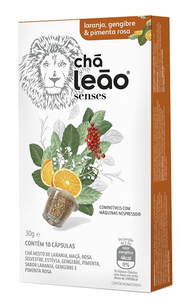 Chá Cápsula  Leão Laranja / Gengibre / Pimenta Rosa Com 10 Unidades (Compatível Nespresso)