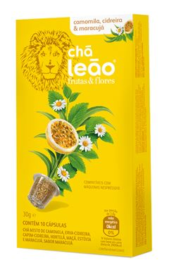 Chá Cápsula  Leão Camomila / Cidreira / Maracujá Com 10 Unidades (Compatível Nespresso)