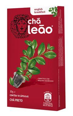 Chá Cápsula  Leão English Breakfast Com 10 Unidades (Compatível Nespresso)