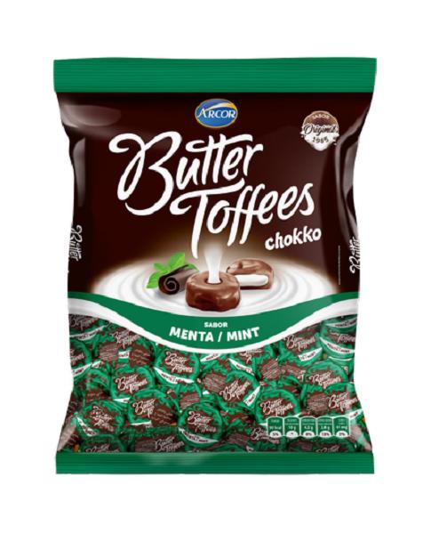 Bala Recheada Arcor Butter Toffe Chokko Menta Pacote 500g