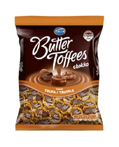 Bala Recheada Arcor Butter Toffe Chokko Trufa Pacote 500g