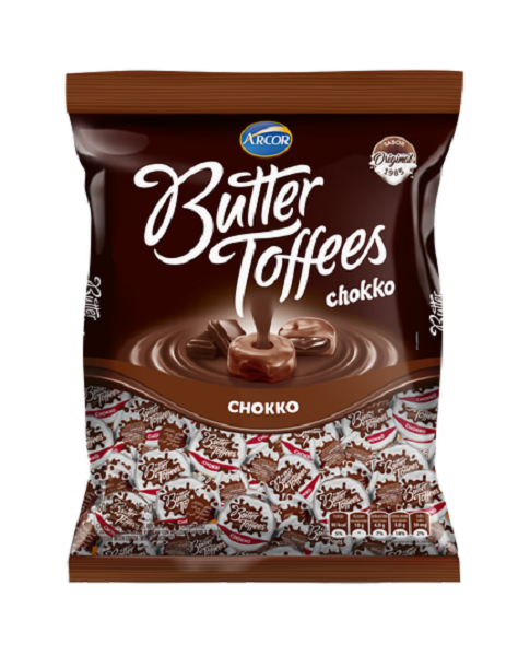 Bala Recheada Arcor Butter Toffe Chokko Pacote 500g