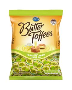 Bala Recheada Arcor Butter Toffe Limão Pacote 500g
