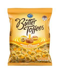 Bala Recheada Arcor Butter Toffe Maracujá Pacote 500g